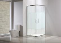 SENSEA Porte de douche, angle carré, L.79 cm x l.79 cm, sérigraphié - QUAD