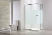 SENSEA Porte de douche, angle rectangle, L.79 cm x l.99 cm, sérigraphié - QUAD
