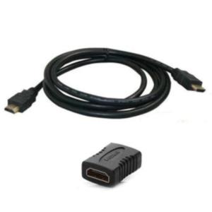 CORDON HDMI1.4 FICHE/FICHE HS + E 2,0MTR. NOIR