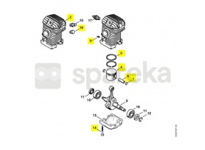 Cylindre+piston d.40 ms210 1123-020-1222