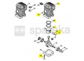 Cylindre+piston d.40 ms230 1123-020-1223