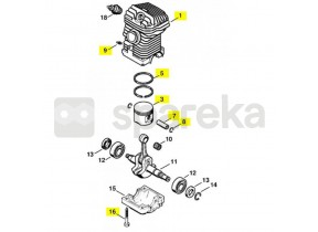 Cylindre+piston d.42,5 025 1123-020-1206
