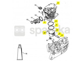 Cylindre+piston d 46/ms 280 1133-020-1202