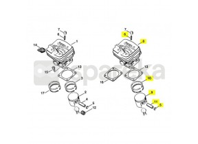 Cylindre+piston d48/034 1125-020-1202