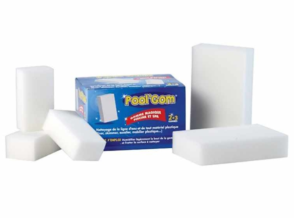 POOL'GOM ® Eponge magique nettoyage ligne d'eau (x3)