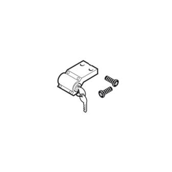 Canon de serrure et clés  sur le portail