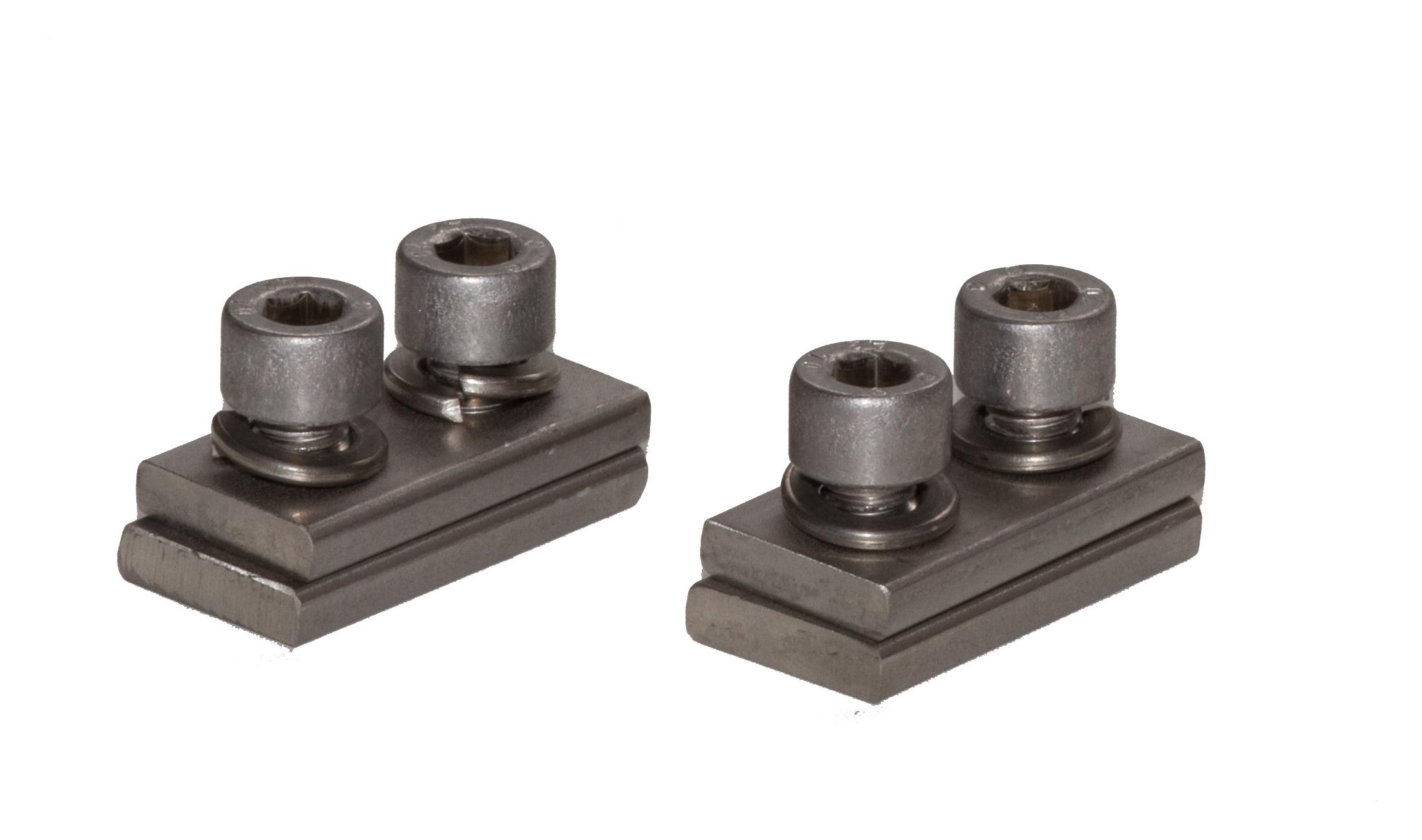 Fixation pour crémaillère pour monter la crémaillère M4 KA au profilé d'aluminiuml, en acier inoxydable, 2 pièces