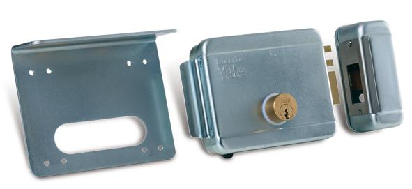Serrure électrique serrure droite, cylindre interne- externe 12-24V sur le portail