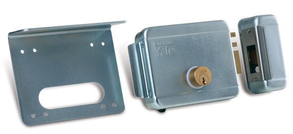 Serrure électrique serrure verticale, cylindre interne- externe 12-24V sur le portail