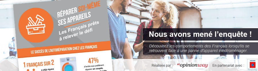 Réparer soi-même ses appareils : les français prêts à relever le défi !