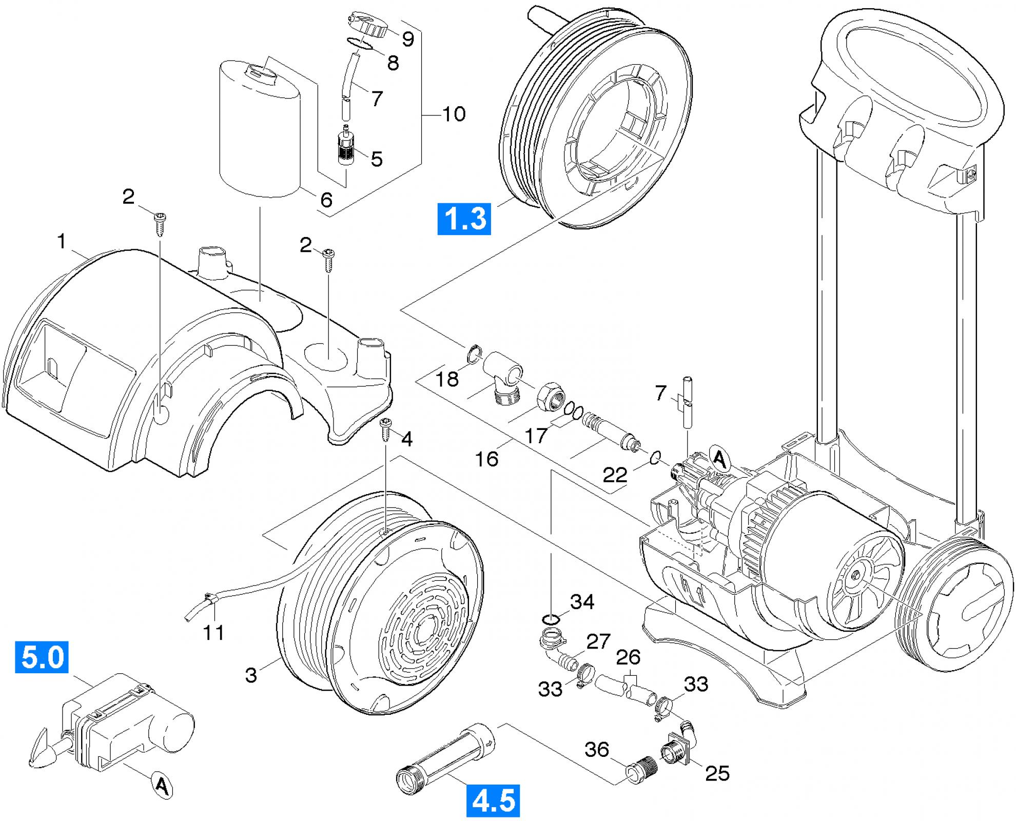 Pi ces d tach es pour nettoyeur haute pression k 550 ms - Pieces detachees karcher ...