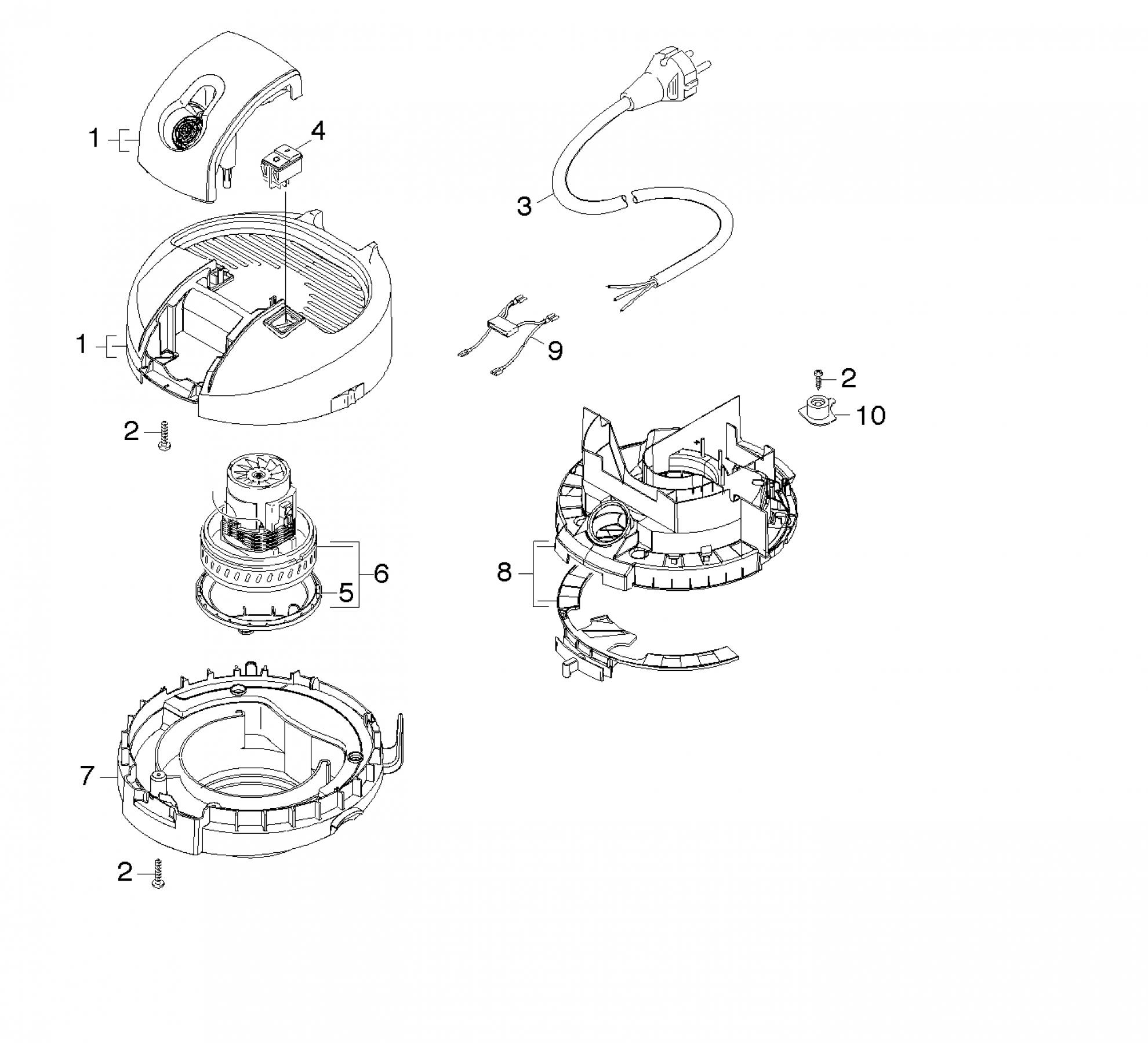 pi ces d tach es aspirateur karcher a 2204 eu. Black Bedroom Furniture Sets. Home Design Ideas