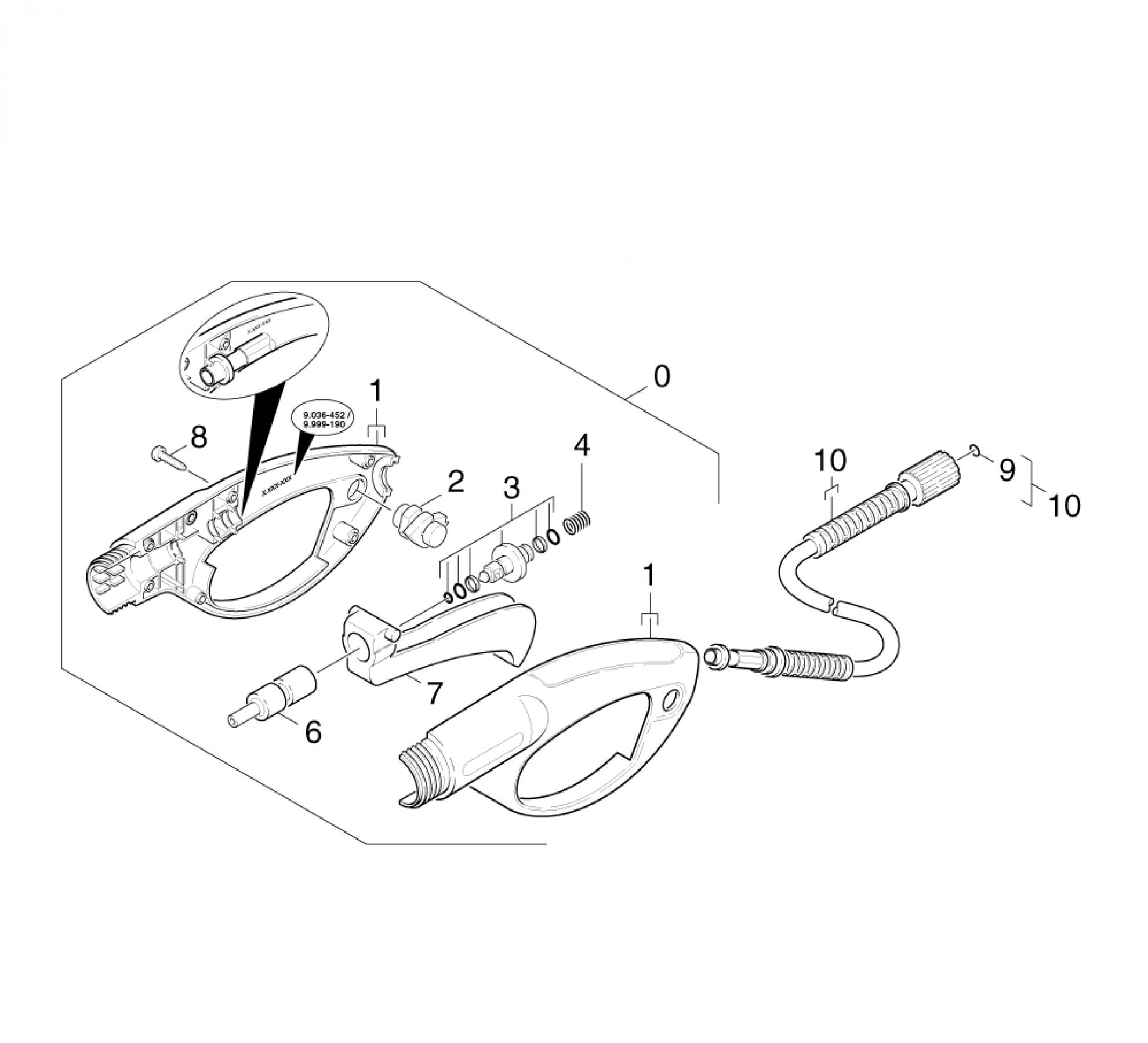 pi ces d tach es pour nettoyeur haute pression karcher k. Black Bedroom Furniture Sets. Home Design Ideas