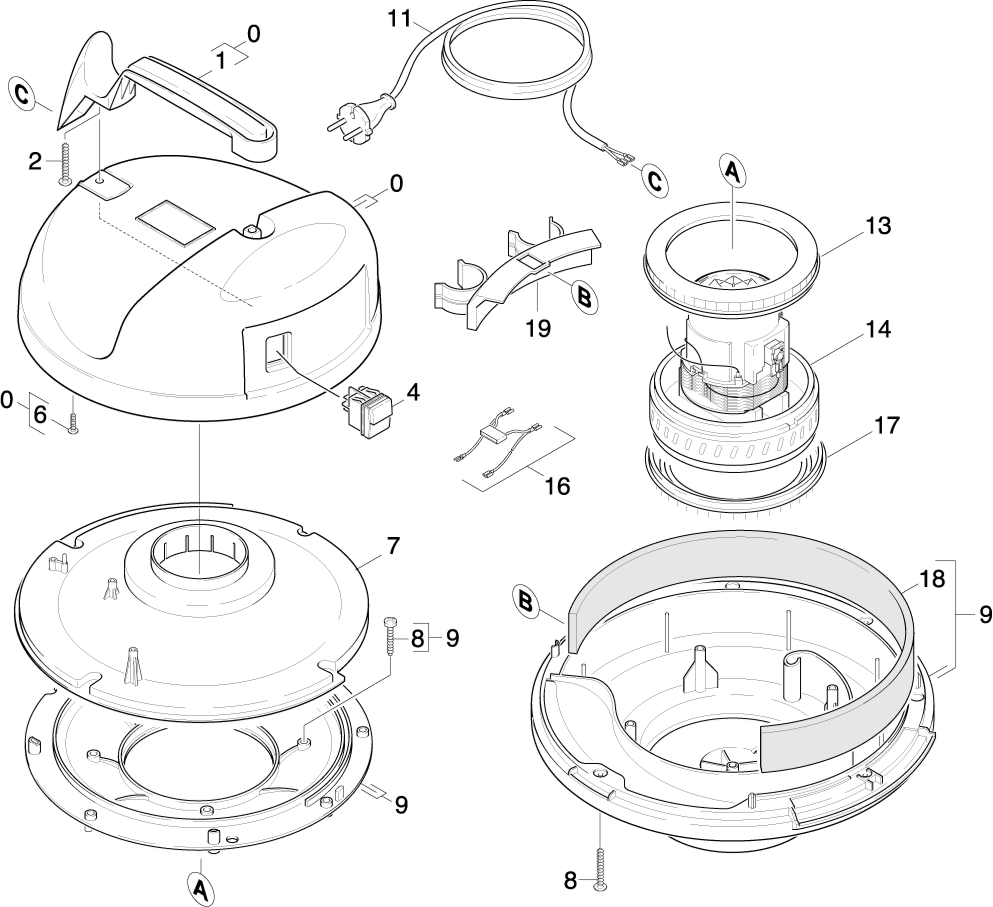 pi ces d tach es aspirateur karcher k 2150 eu. Black Bedroom Furniture Sets. Home Design Ideas