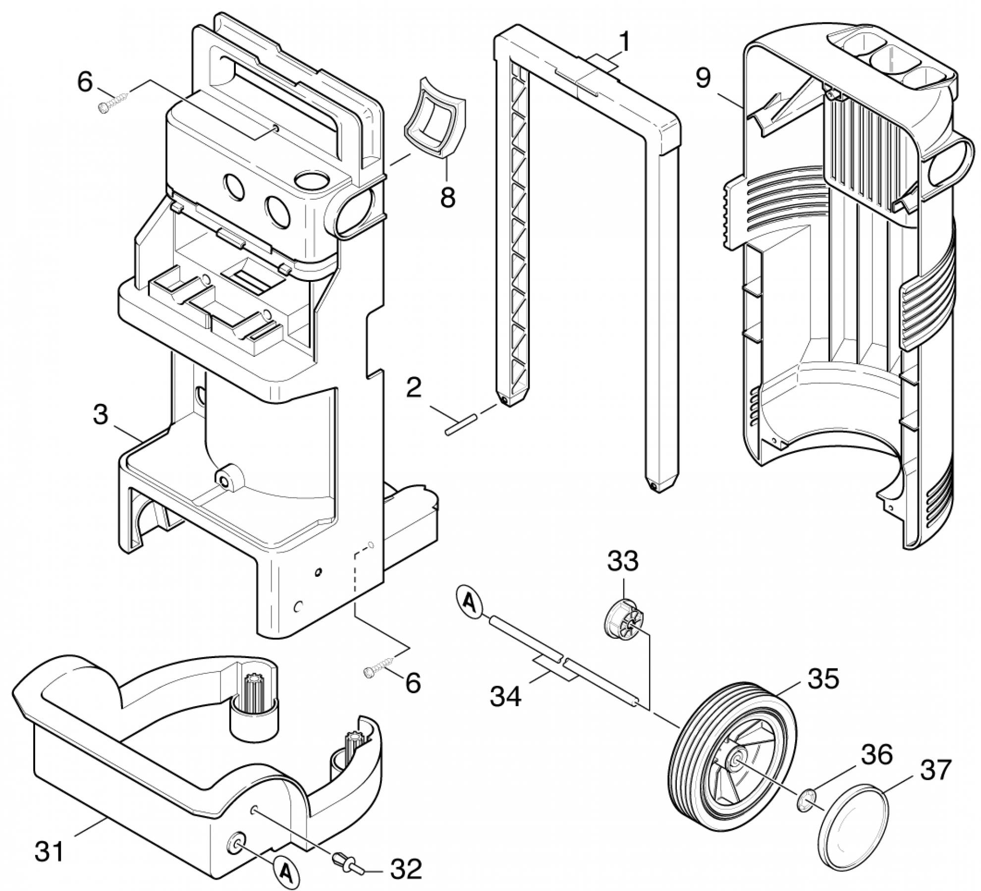 pi ces d tach es nettoyeur haute pression karcher k 720 m eu page 2. Black Bedroom Furniture Sets. Home Design Ideas