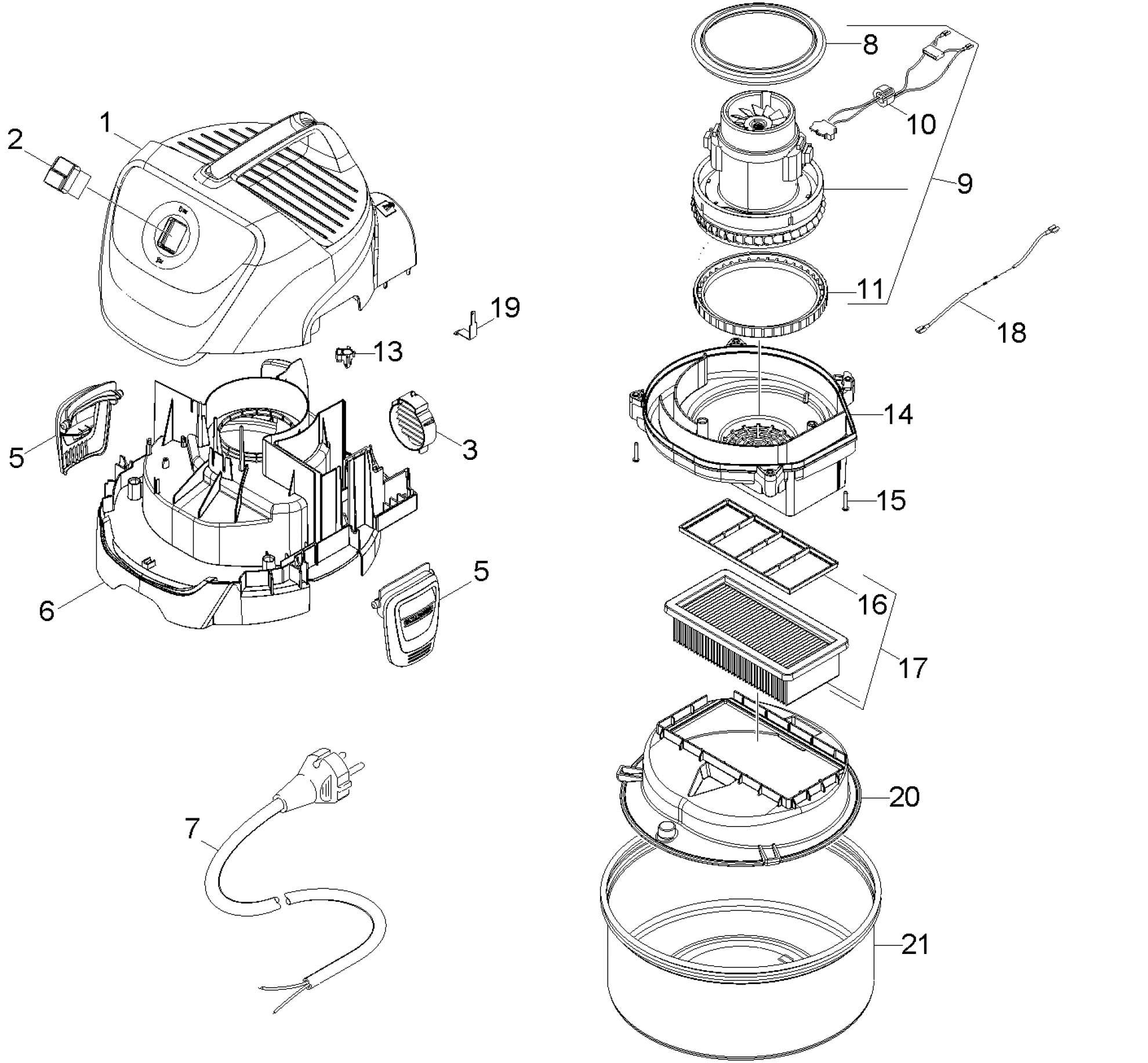 pi ces d tach es aspirateur karcher fireplace vac ad eu ii. Black Bedroom Furniture Sets. Home Design Ideas