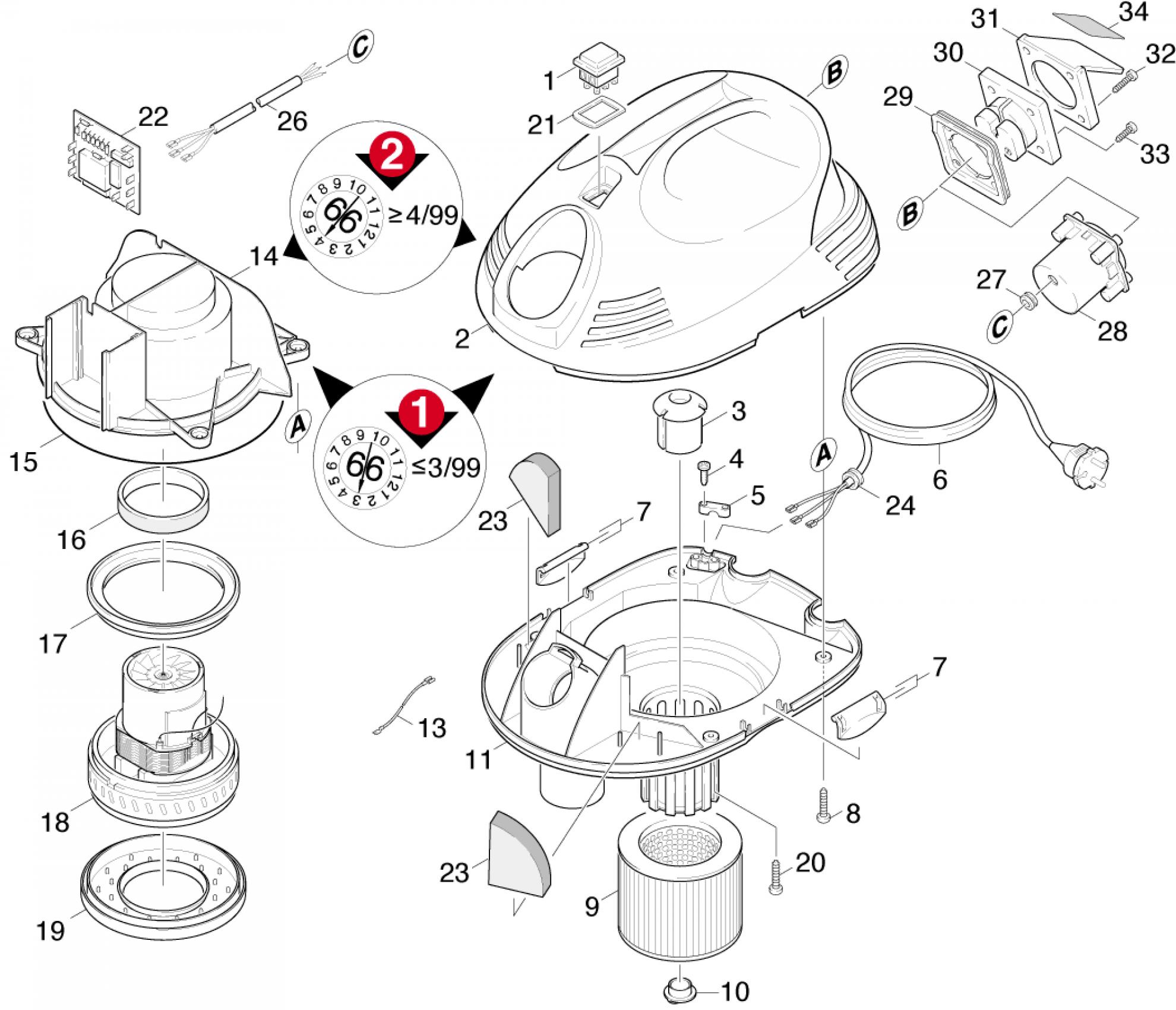 pi ces d tach es aspirateur karcher k 2101 te fr. Black Bedroom Furniture Sets. Home Design Ideas