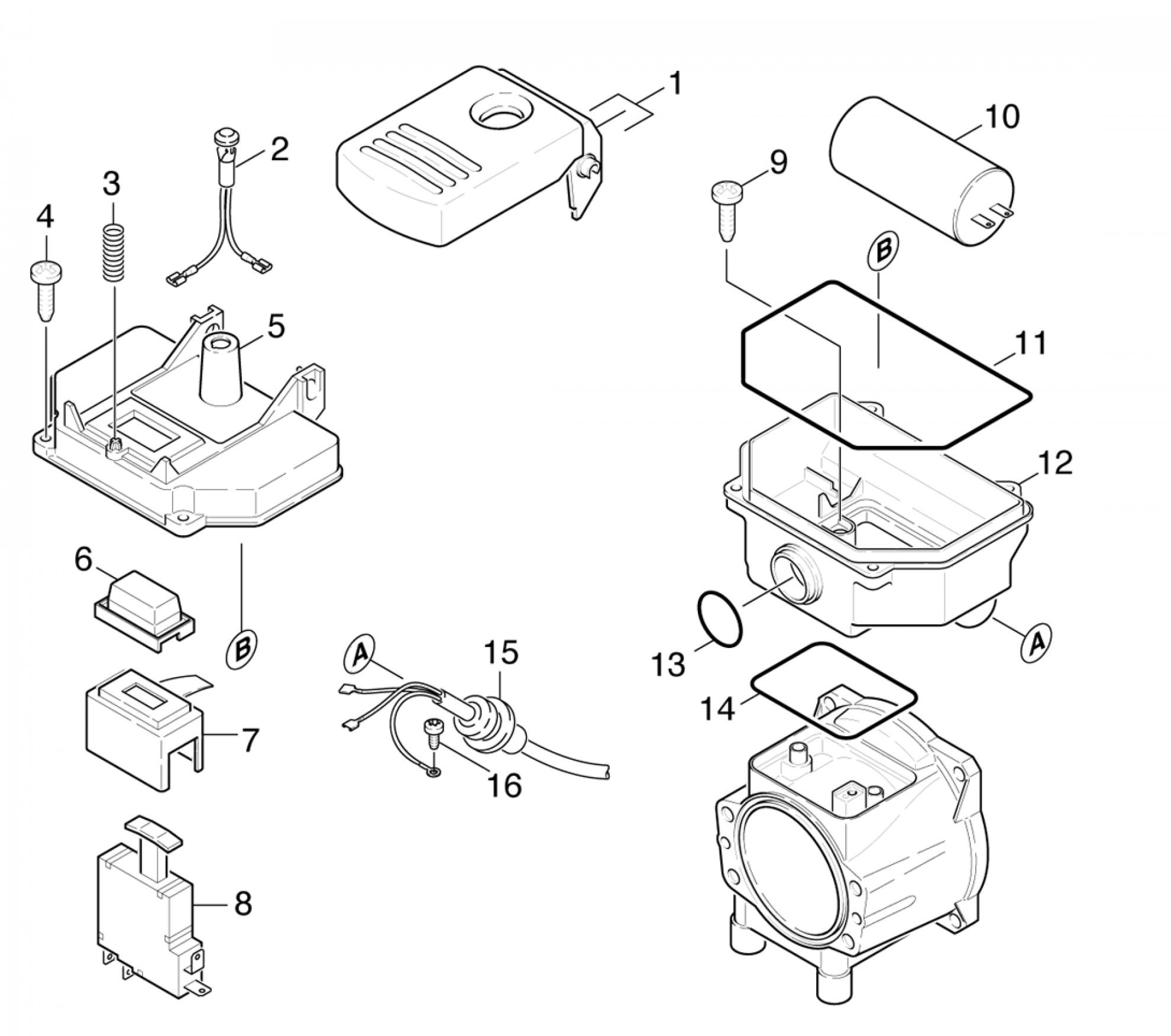 pi ces d tach es pour nettoyeur haute pression k 635 m. Black Bedroom Furniture Sets. Home Design Ideas