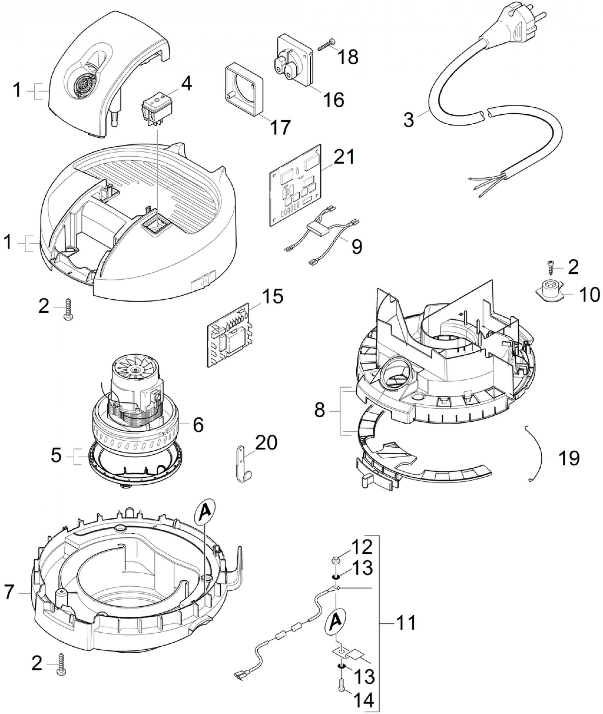 pi ces d tach es aspirateur karcher a 2654 me plus fr. Black Bedroom Furniture Sets. Home Design Ideas