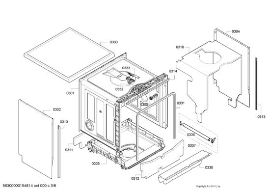 pi ces d tach es lave vaisselle bosch sms40e08eu01 prix pas cher page 4. Black Bedroom Furniture Sets. Home Design Ideas