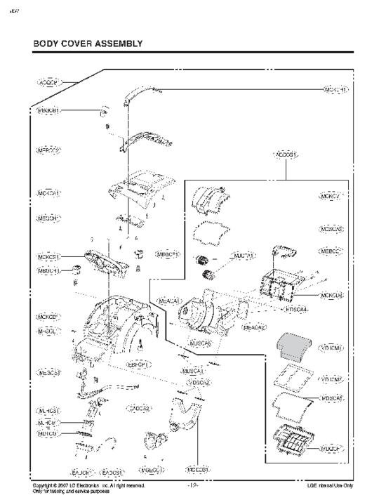 pi ces d tach es aspirateur lg vc9065fs prix pas cher. Black Bedroom Furniture Sets. Home Design Ideas