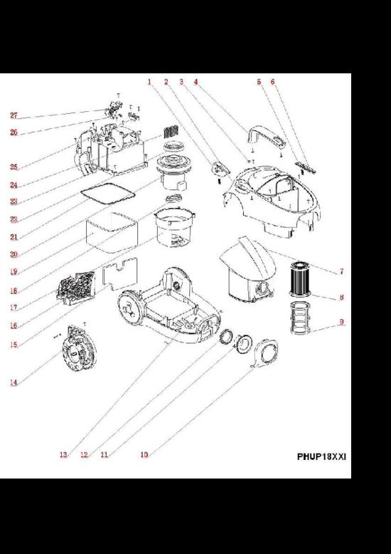 pi ces d tach es aspirateur tornado to1821el 90025807500. Black Bedroom Furniture Sets. Home Design Ideas