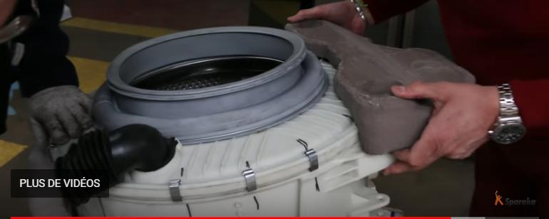 monter le contre-poids sur le bloc laveur
