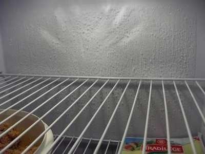 Mur de froid au fond du frigo