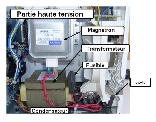 micro-ondes: détails du mécanisme