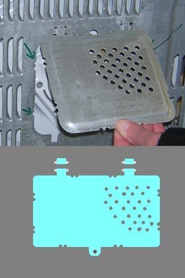 micro-ondes : remontage de la grille de protection