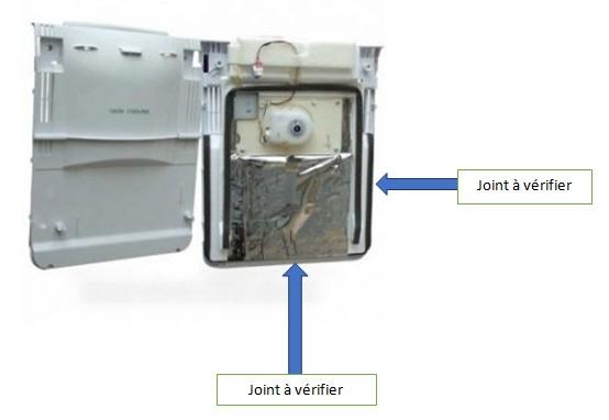 vérifier le carter d'air de réfrigérateur