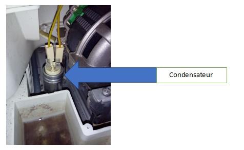 sèche-linge : condensateur de démarrage