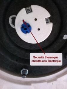 Sécurité thermique du chauffe-eau